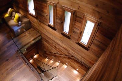 chalet escalier bois